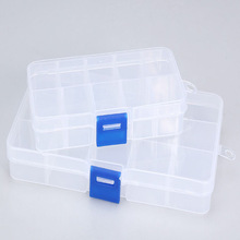 5 colors Free Shipping 2015 Hot Selling Plastic 15 Slots Pill boxes Craft Organizer Beads Adjustable