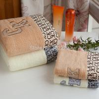New Style Towel set,100%cotton Bath Towel Set (1pcs*Face towel 35x75CM+1pcs Bath Towel*140X70CM), Beige/Coffee colors