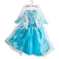 2014 Anime Movie Cosplay Costume  Queen Girls Deluxe Fancy Snowflake Dress Costume PrincessToddler Pixar Movie