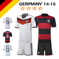 Deutschland 2014 - 2015 Home Away Full Jersey Set with Shirt & Short for Germany Soccer OZIL GOTZE Reus Muller Schweinsteiger !