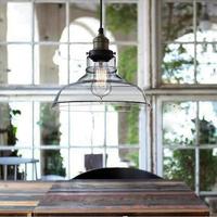 European Modern Industrial style Hanging Pendant Lights Lamps Vintage Retro Edison Ceiling Glass Lamp Cafe Kitchen Restaurant