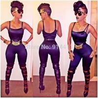 XS-L 2014 New Women Clubwear Dress Evening Deep V Neck Bandage Strap Bodycon Backless Sleeveless Sexy Dresses Romper  6 Colors