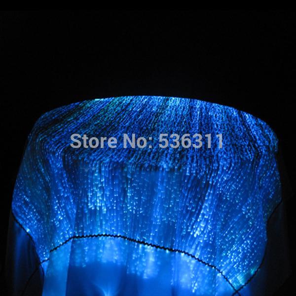 2015 wedding decoration sofa table furniture Textiles fashion fiber optic fabric home textile bedding luminous tablecloth(China (Mainland))