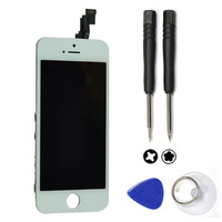 100% Guarantee For iphone 5C Replacement LCD Front Touch Screen with Digitizer Assembly and Frame +Opening Tools White