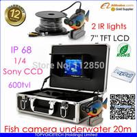 NEW Mytopia Factory color fish camera underwater 20m, fish camera underwater sony 600tvl 12leds 7inch TFT LCD