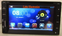 Android 4.22 OS 2 din double din car dvd  fix panel with capacity screen Dual Core GPS built-in wifi 3G Radio Bluetooth
