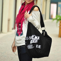 2014 Ready to Ship Everyday Canvas Women Tote Bag English Letters Purse Diaper Bag School Shoulder Bag with adjustable strap
