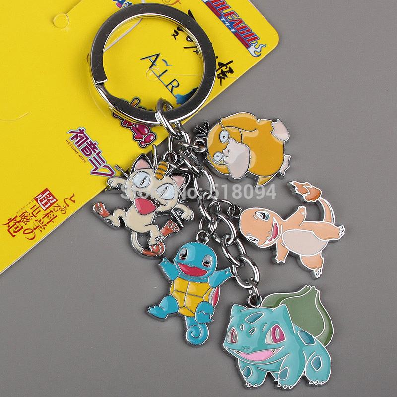 Retail 1 stuks pokemon pikachu cartoon anime figuren sleutelhangers ...