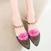 Fashion New Sexy Women Pumps Shoes Woman Zapatos Mujer  Brand Pointed Toe Lace High Heels Ladies Sapatos Femininos ILGG1087