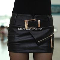 женщины осень Пу пиджак плюс размер Европейский стиль короткие дизайн тонкий кожаный пиджак Пальто Женская работа куртка
