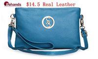 2014 Fashion women Genuine Leather Handbags Wristlets Small Shoulder bag Purses Flap Clutches Satchel bag BH205 Free Shipping