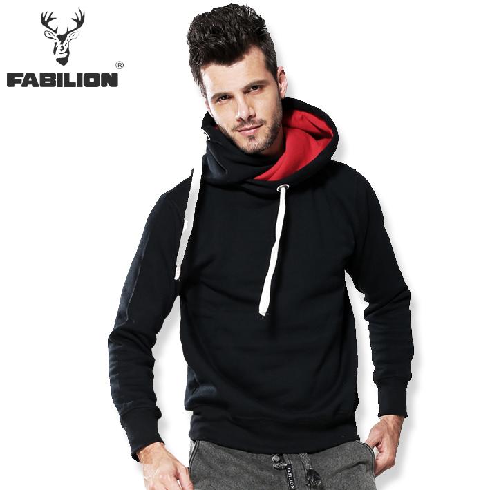 50% di sconto spedizione gratuita fabilion 2014 autunno nuovo casual flanella sport attivo hoodies degli uomini, maschio esterno con cappuccioin cotone tuta da jogging