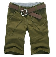 2014 Men's Summer Fashion Casual Trousers Plus Size Jumpsuits For Male Denim shorts 3 colors Select