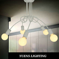 Modern contracted fashion design of dining-room children room 5-head ceiling light YSL-1835C Free Shipping