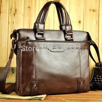 Hot seller! 2014 New genuine Leather Men's handbags Messenger Briefcase Bags Men fashion Shoulder Bag+Free shipping(NSB-008)