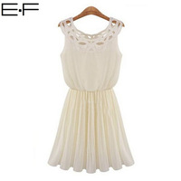 Free Shipping!  2014 New Summer Women Hollow out Draped Large Size  Sundress Plus Size Festa Nightclub Pleated Chiffon Dress