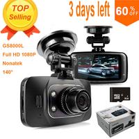 "100% Original GS8000L Novatek 2.7"" 140 25fps HD 1080P Car DVR Vehicle Camera Video Recorder Dash Cam G-sensor DVR  Night Vision"