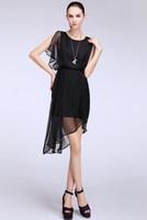 women summer dress New Elegant Women Chiffon Long Dress With Tags
