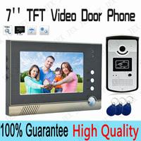 7 inch Video Door Phone Intercom system Night Vision Camera doorphone rain cover