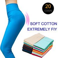 20 Colors Summer 2014 Women Cotton Leggins XL XXL Plus Size Footless Leggings American Apparel Candy Color Fitness Legging Pants
