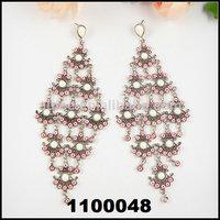 New arrival Long Fashion dangle earrings for women beautiful  vintage ear pearl stone vintage earring   Free shipping