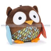 baby soft Stuffed  Animals plush toys early development toy  nursery plush toy cute Owl doll free shipping