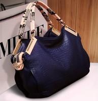 2014 fashion women handbag crocodile pattern women PU leather handbag vintage shoulder bag crossbody women messenger bag WB2036