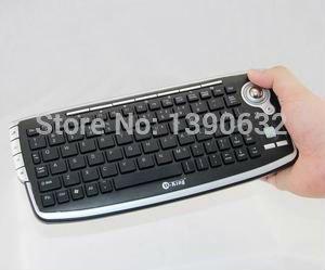 2.4G wireless trackball keyboard usb wireless mini keyboard and mouse keyboard combo for Home TV pc Mac DVR mini pc box(China (Mainland))
