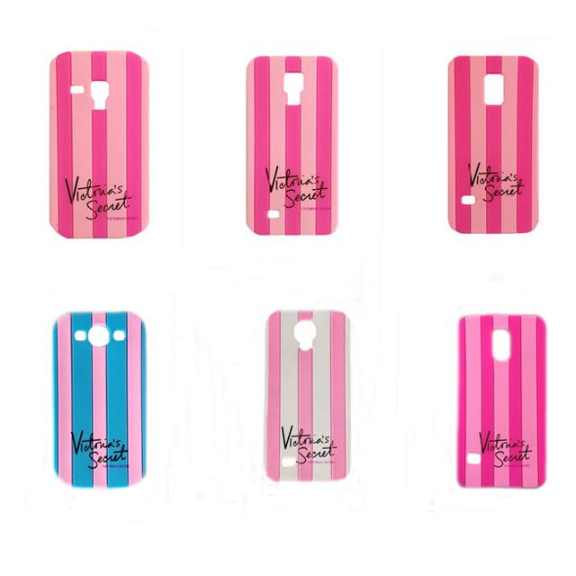 For Samsung galaxy s3 s4 s5 s3mini s4mini s5 mini:2014 Newest Victoria/'s Secret PINK Luxe Soft Silicone Stripe Rubber Case(China (Mainland))