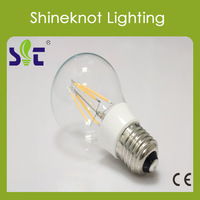 CE Passed 4W A60 E27 Filament Light 360 Degree 3000k 4000k 6400k  LED  Bulb 220-240v Free Ship