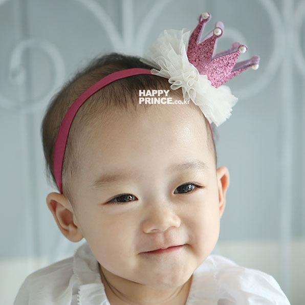 1pcs baby girl sweet lace crown headband children headdress hair accessories kids pearl shiny tiaras Christmas gift(China (Mainland))
