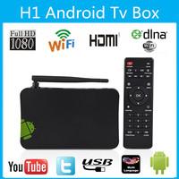 New Dual Core H1 Android tv box 512MB/4GB AllWinner A20 1.6GHz Wifi TV Mini PC 1080P Media 3D GPU HDMI +Remote Control