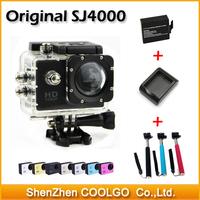 Original SJ4000 SJCAM Diving 30M Waterproof extreme HD Sport Action Cam + Extra battery + Battery Charger + GOPRO Monopod