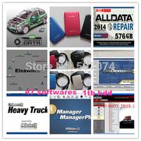 Top alldata 2014 auto repair software 10.53+mitchell on demand 2014 +mitchell heavy truck+ATSG+ETKA+vivid+ELSA 47in1 1tb hdd