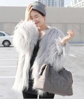 Free shipping Faux fur coat fur  coat autumn short design fur jacket  women's