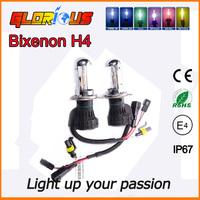 2PCS 35w  H4-3 Hi/Lo hid xenon bulb 4300K 5000K 6000K 8000K 10000K 12000K,bi xenon h4