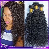 Peruvian virgin hair Deep curly Ali moda hair 4pcs human hair bundles Unprocessed Peruvian curly hair Peruvian deep wave color1b
