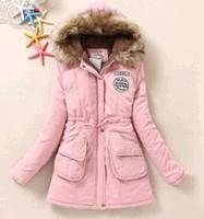 jaqueta feminina 2014 New women winter jacket Thick warm fur hooded long padded cotton parka womens winter coat