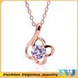 Grace light purple crystal wholesale full colors for you choose necklaces & pendants JPN401(China (Mainland))