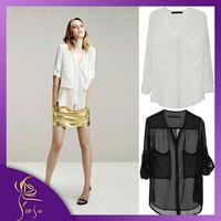 Long Sleeve Women Chiffon Blouse Brand Camisa Blusas Femininas Plus Size Casual Roupeas Sheer Tops Blusa Atacado Cheap Clothes