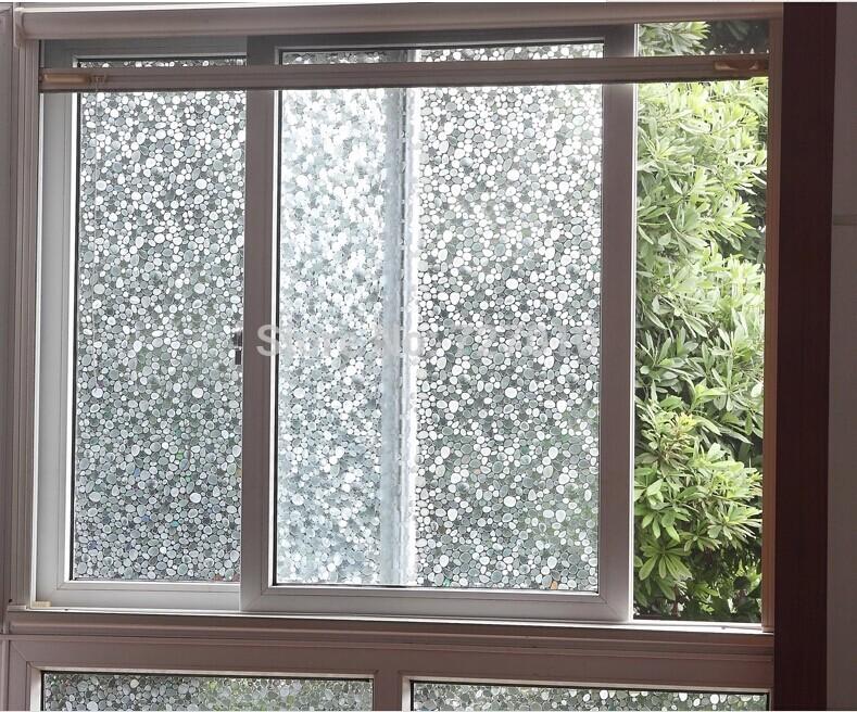No Glue Stati Cling Stone Design Window Glass Film Sticker Bathroom Office Kitchen Width40 50 60