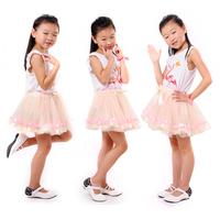2014 Factory Fluffy Skirt For Girls Ivory Ballet Tutu Baby Mimi Skirt Cute Denim Skirt For Girls 1pc/Lot Free Shipping