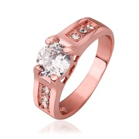 VGR672 Great Price Top Quality Cubic Zirconia 18K Rose Gold Plated Wedding Engagement Rings for Women