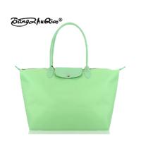 2014 Fashion women messenger bags folding women's leather  handbag waterproof nylon high quality dumplings shoulder bag Large