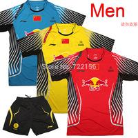 New 2014 Badminton World Championships CHINA Uniforms , LI-NING Badminton clothes Men's , badminton shirts LIN DAN jerseys