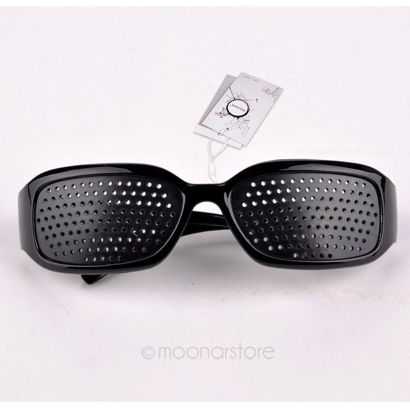 2014 Fashion Unisex Black Pinhole Glasses Vision Adjustment Health Care Eyewear Eyeglasses XMHM107(China (Mainland))