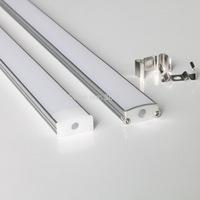 20m a lot, 1m per piece led aluminum profile slim AP1708-B-1m with milky diffuse cover