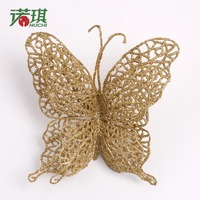8cm  shallops butterfly color artificial flower Christmas 10g decoration