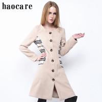 2014 new autumn winter trench wool coat long khaki plaid patchwork single breasted women woollen coat  XXXL overcoat DF14W008