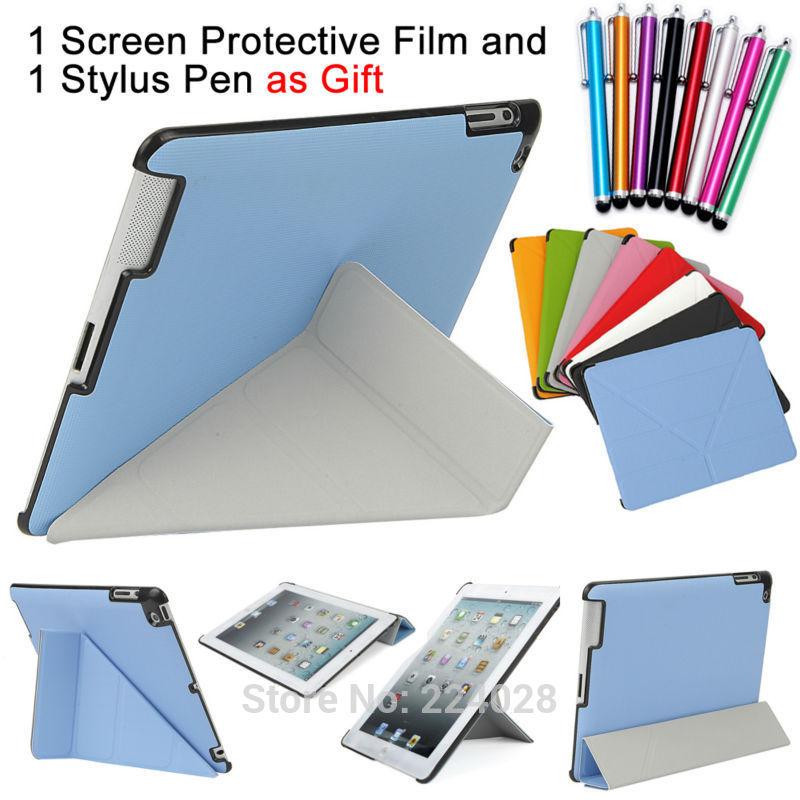 4 forme progetto dello stand custodia in pelle magnetica per ipad 4 3 2 smart cover smartcover per ipad4 utrathin stile di modo, spedizione gratuita